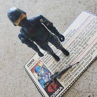 Vintage GI Joe figure 1982 Cobra Soldier V1 complete with file card