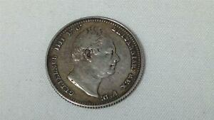 Antique Coin GB William IV 1834 Silver Shilling in EF Condition Collectors