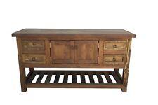 "Reclaimed Wood Rustic Bathroom Vanity Ready To Ship 60"" Ladder Shelf"