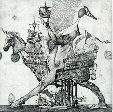 The Ship of Fools,  Original Etching Ex libris Print by Ivan Rusachek, Belarus