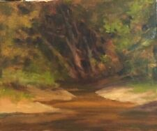 River clearing Oklahoma Flint Creek Oil Painting Margaret Aycock sale