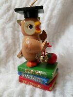 Owl For My Favorite Teacher  Kurt Adler Christmas Ornament 1985 Vintage