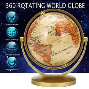 Earth Globe World Map Plastic Stand Durable Geography Education Desktop Toy Tool