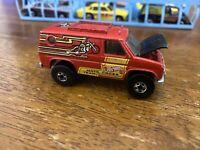 Hot Wheels Moto Cross Team Truck Van. Red. Vintage 1977 Hood Opens❤Fantastic ‼️