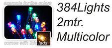 Coloured Christmas Tree Lights 384 Christmas Party Garden Fairy Lights with Plug