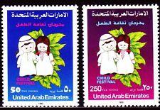 UAE 1990 ** Mi.297/98 Kinderfestival | Child Festival | Kinder | Children