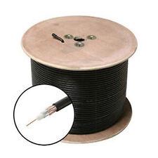 CIB RG59 Siamese Solid Coaxial Cable 18/2 (18AWG 2C) Power Black 500 ft, Spool