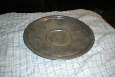 """Vintage ELEGANT ETCHED E.P.C. 112 Silverplate Serving Tray Plate Dish 11"""" Inches"""