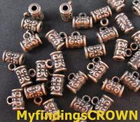 120PCS Antiqued copper 5mm hole decorative bail FC417