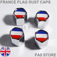 France Chrome Dust Caps -French Flag Car Van Tyre Valve Caps UK Renault Peugeot