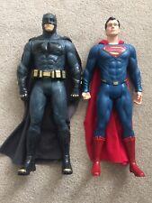 Superman and batman figures