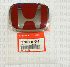 Red Jdm H Emblem Front For 06 15 Honda Civic Sedan Dx Ex Lx Si Fits 2012 Honda Civic