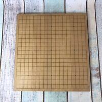 Vintage Large Folding Wooden Board Game GO 42 x 42cm Felt - weiqi - Board Only