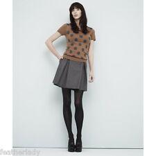 MADAM A PARIS womans smart GREY flanel short mini skater skirt UK 8 EU 36 NEW
