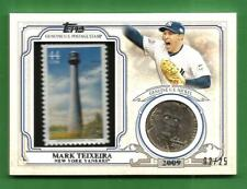 MARK TEIXEIRA 2016 Topps World Champion Coin and Stamp Nickel Yankees #d 02/25