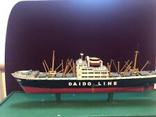 Wooden  Ship Model Japanese Steamship Line Vintage   MS Kochi Maru