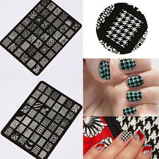 Fashion Nail Art Stamp Plates Large Image Stencil Polish Stamping Template Tool
