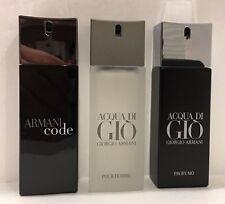 Acqua Di Gio / Armani Code or Perfumo .67 oz Travel Size sprays each, $24.99