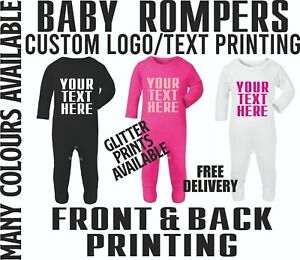 Custom Baby Romper Printing Baby Suit Personalised Text New Born Gifts Printed
