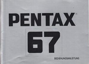 Pentax Bedienungsanleitung für  Pentax 67