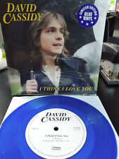 DAVID CASSIDY - I Think i Love You / I Woke Up in Love This Morning Blue 7 inch