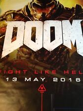 Official DOOM BUS SHELTER POSTER Ps4 Genuine Poster Bethesda Xbox