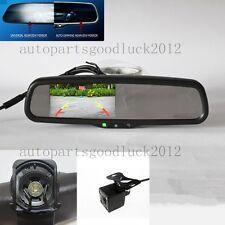 """Auto dimming rearview mirror+4.3""""backup display+camera,fit Hyundai,Kia,Ssongyong"""