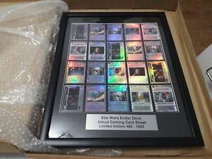 Framed Star Wars Endor Deck Uncut Gaming Card Set Issue 693 Of 1000 COA Ltd Edit