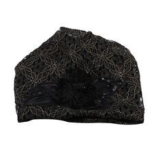 Women Lace Flower Hollow Hat Autumn Winter 3 Colors  Beanie Scarf Cap SA