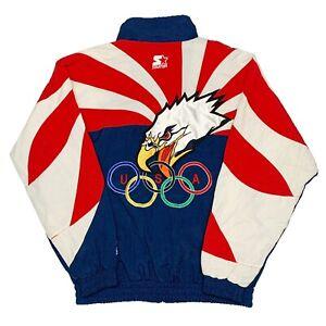 Vtg Rare USA Olympics Starter Windbreaker Jacket Eagle. Mens Small