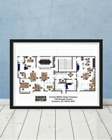 The Office Dunder Mifflin Scranton Floor Plan Art Gift Schrute Jim Michael Scott
