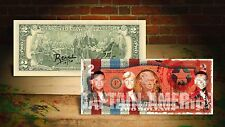 DEREK JETER CAPTAIN AMERICA RED by RENCY Art Signed Giclee on $2 Bill Banksy
