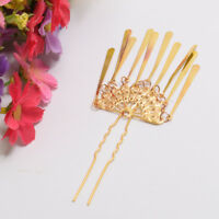 Golden Fan Tassels for Kimono Geisha Hairpin Japanese Mini Kanzashi Hair Clip