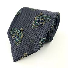 "Dunhill Italy Blue Paisley Slim Silk Men's Tie Length: 58"" Width: 3.375""  (C26)"