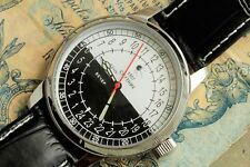 SPUTNIK 24-hour Wrist watch 1957 Soviet Russian history and quality ! / Serviced
