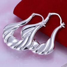 Paar Damen Ohrring Creolen Herz Ohrstecker pl. mit Sterlingsilber DO138 T::A
