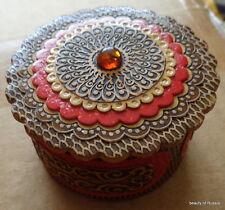 birch russian handmade box w/ amber #1