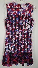 Peter Pilotto For Target Dress In Red Floral Stripe Print Sleeveless Women's XS