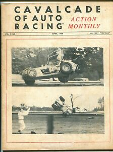 CAVALCADE OF AUTO RACING 04/1968-1ST ISSUE-CRASH COVER-WILL CAGLE-RIVERSIDE-vg