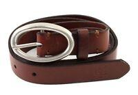 Marc O'Polo B1 Belt W90 Gürtel Accessoire Cognac / Silver Braun Neu
