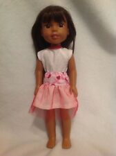 """Wellie Wishers Valentine's Day skirt top American Girl 14"""" doll clothes outfit"""