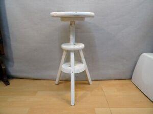 Drehstuhl Holz Hocker Drehhocker Dreibein Stuhl Höhenverstellbar Höhe 45,5/62 cm
