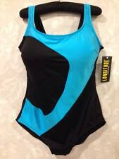WOMAN'S SIZE 24 24W LONG TORSO LONGITUDE TURQ CURVACEOUS SWIMSUIT NWT
