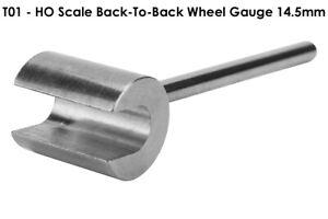 HO Scale Wheel Gauge Spacer Back-To-Back 14.5mm White Metal Model Railroad Tool