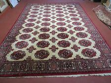 9' X 12' KARASTAN #704 Bokhara Pattern - Red & Ivory American Made Wool Rug Nice