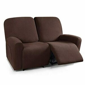 TAOCOCO Loveseat Recliner Cover, 6 Pieces Dual Recliner Sofa Covers for 2 Seat D