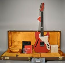 2019 Fender Two Tone Telecaster Thinline Limited Edition Fiesta Red Guitar OHSC