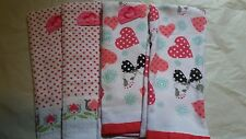 LOT OF 4 VALENTINE'S DAY TEA TOWELS -NEW