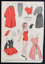 1952, Jenny Lou Mag. Paper Dolls, Wee Wisdom Mag., Dorothy Wagstaff Artist