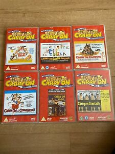 JOB LOT 21 CARRY ON DVD'S 2004 MB
